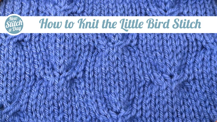 How to Knit the Little Birds Stitch