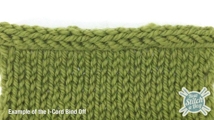 Example of the I-Cord Bind Off