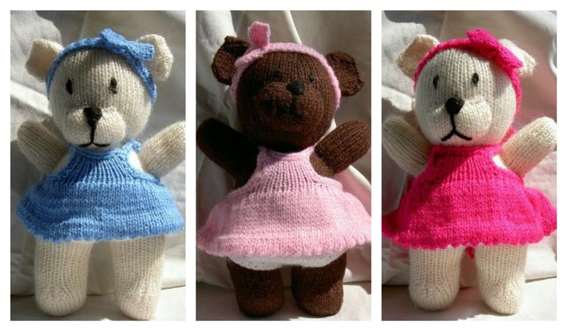 Little Bear Dolls knitted by John Asfour