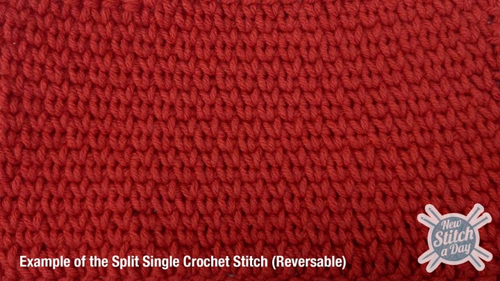 Split Single Crochet Stitch