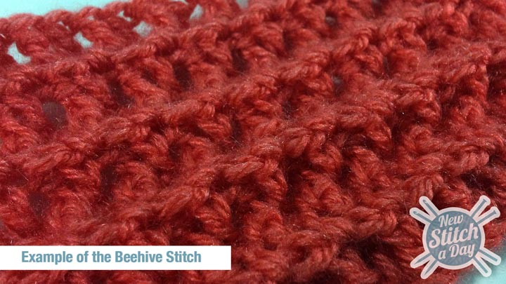 Example of the Beehive Stitch Detail