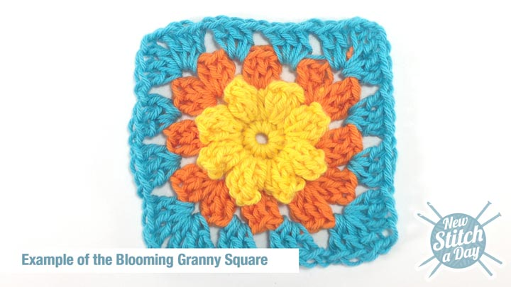 Example of the Blooming Granny Square