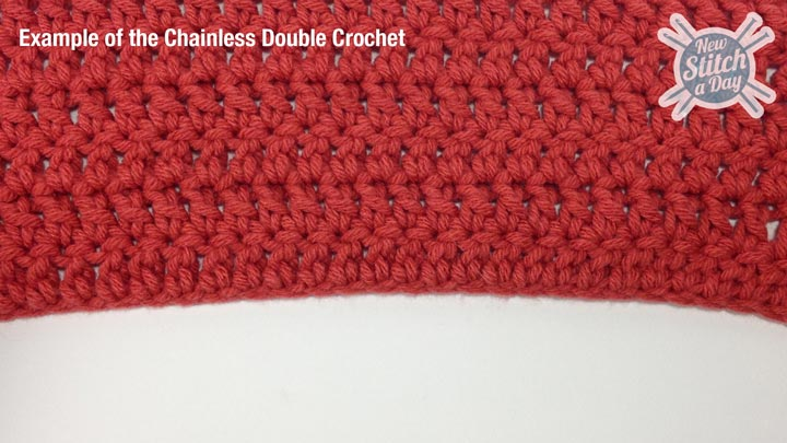 Example of the Cainless Double Crochet