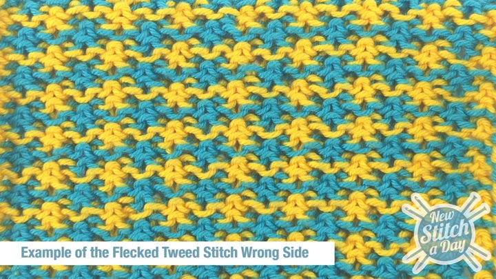 Example of the Flecked Tweed Stitch Wrong Side