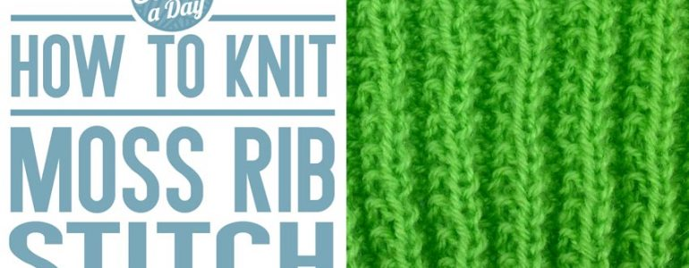 How to Knit the Moss Rib Stitch