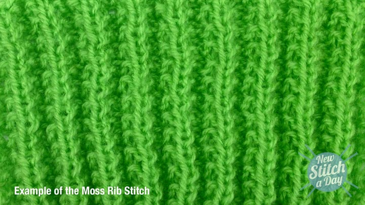 Example of the Moss Rib Stitch