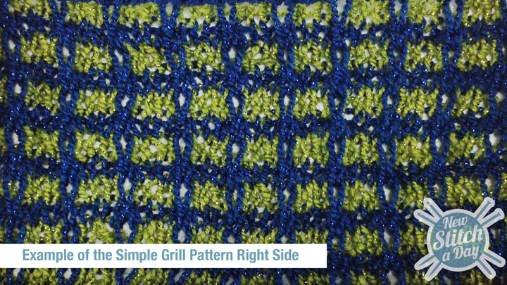Example of the Simple Grill Pattern Right Side