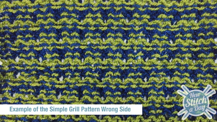 Example of the Simple Grill Pattern Wrong Side