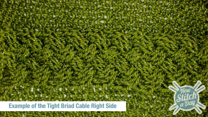 Example of the Tight Braid Stitch Right Side