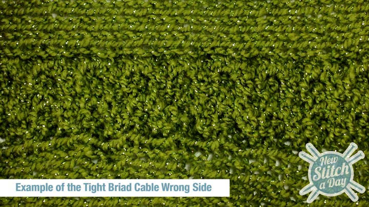 Example of the Tight Braid Stitch Wrong Side