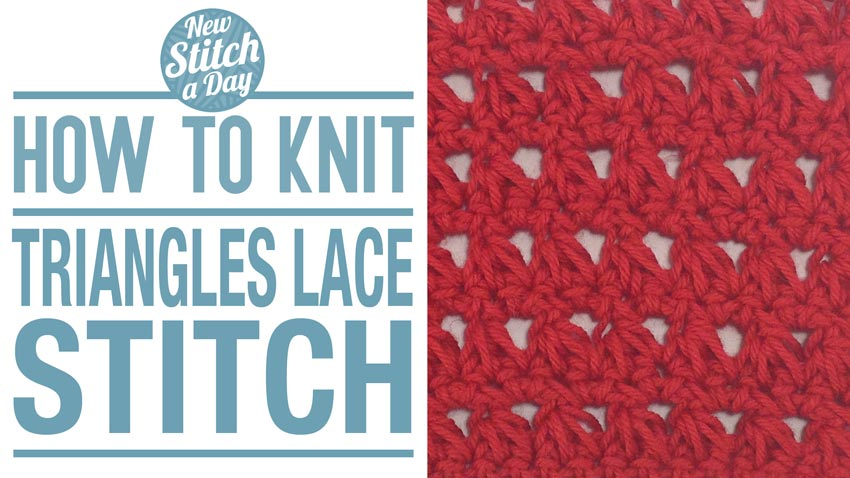 How to Crochet the Triangles Lace Stitch