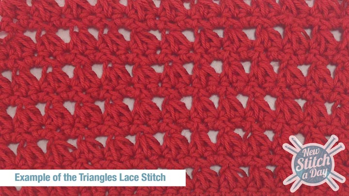 Example of the Triangles Lace Stitch