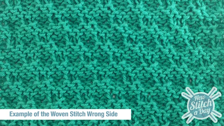 Example of the Woven Stitch Wrong Side
