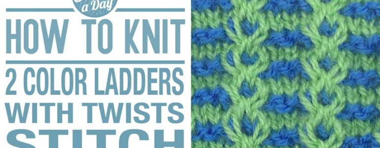 How to Knit the 2 Color Ladders with Twist Stitch
