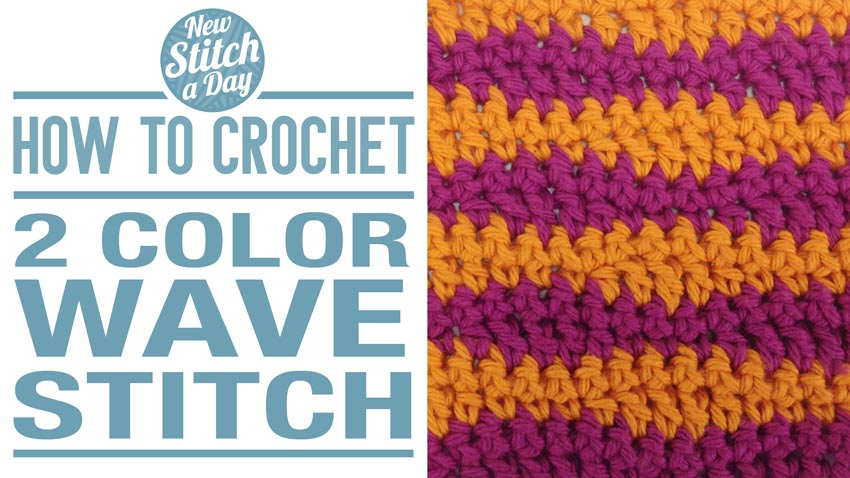 How to Crochet the 2 Color Waves Stitch