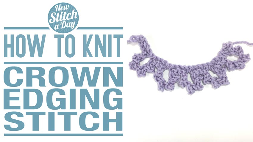 How to Knit the Crow Edging Stitch