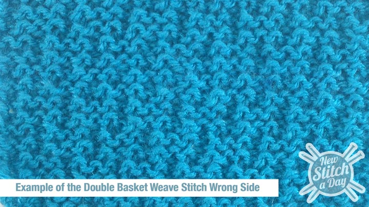 Example of the Double Basket Weave Stitch Wrong Side