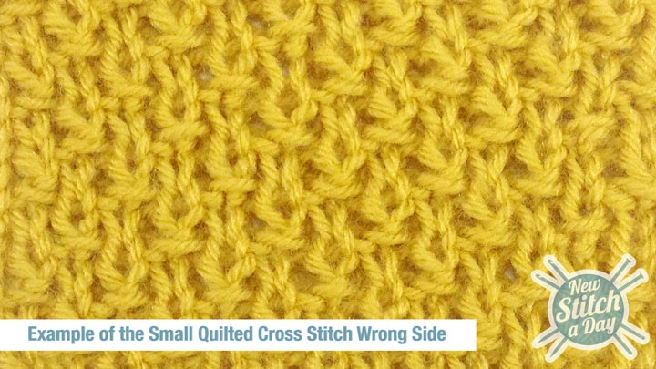 Example of the Small Quilted Cross Stitch Wrong Side
