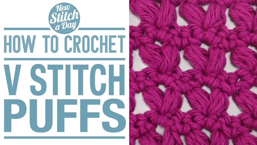Crochet Stitches V Stitch : The V Stitch Puffs :: Crochet Stitch #25