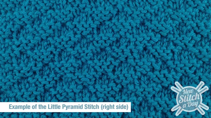 Example of the Little Pyramid Stitch Right Side