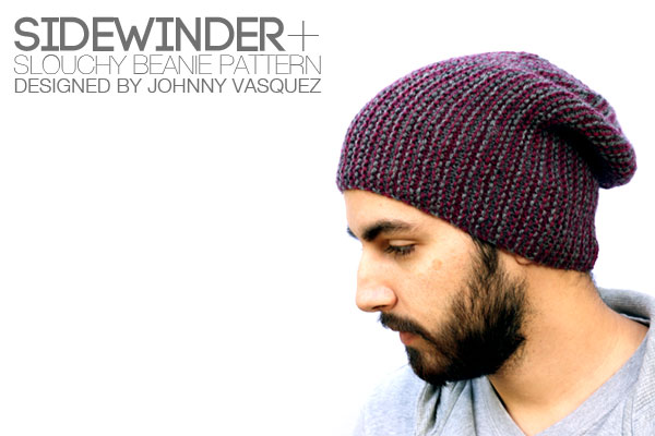 Sidewinder+ Slouchy Beanie Pattern Cover
