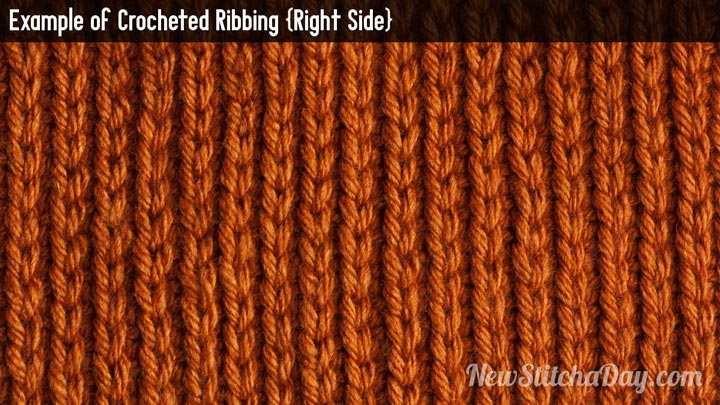 Crochet Stitches Rs : Example of Crochet Ribbing Right Side