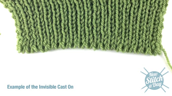 How to Knit the Invisible Cast On NEW STITCH A DAY