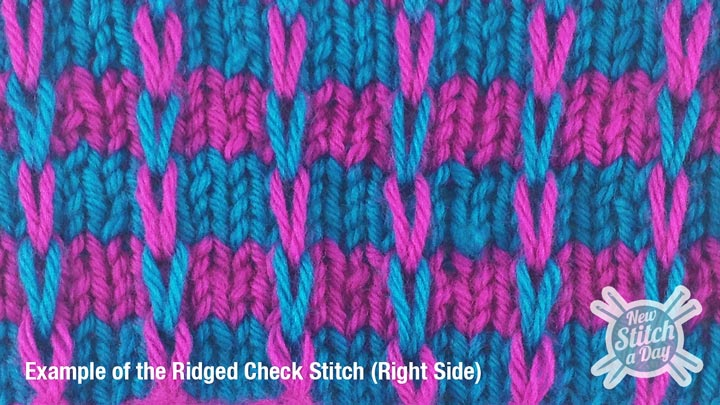 Example of the Ridge Check Stitch Right Side