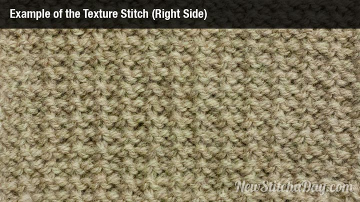 Knitting Stitches Texture : The Texture Stitch :: Knitting Stitch #154 :: New Stitch A Day