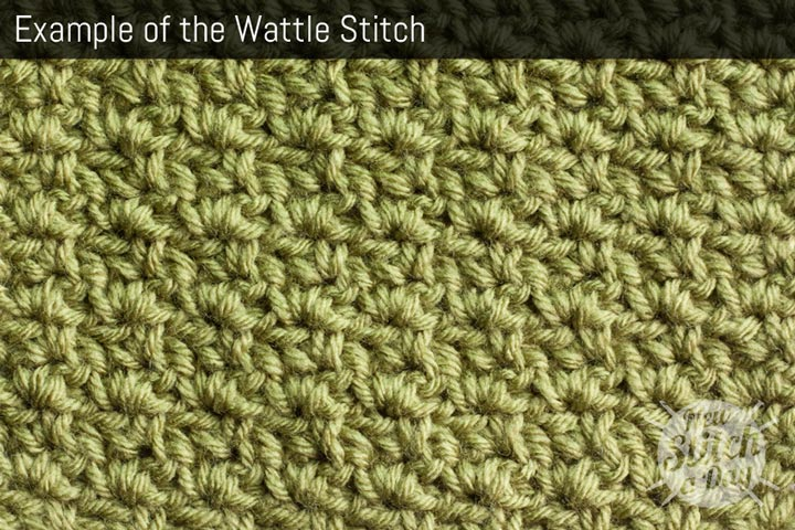 Knitting Patterns New Stitch A Day : The Wattle Stitch :: Crochet Stitch #43 :: New Stitch A Day