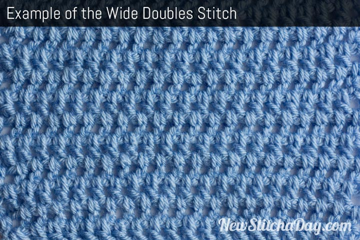 Example of the Wide Doubles Stitch