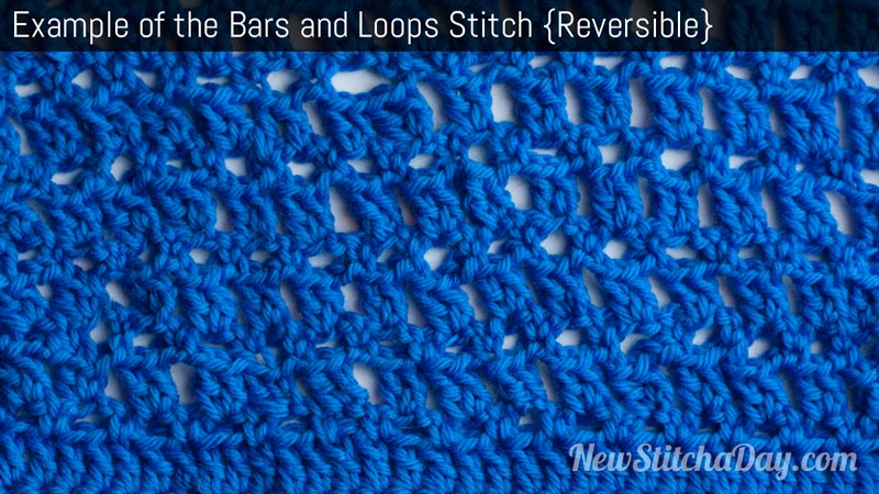 Example of the Bars and Loops Stitch