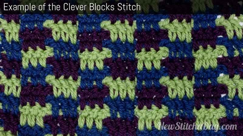 Example of the Clever Blocks Stitch