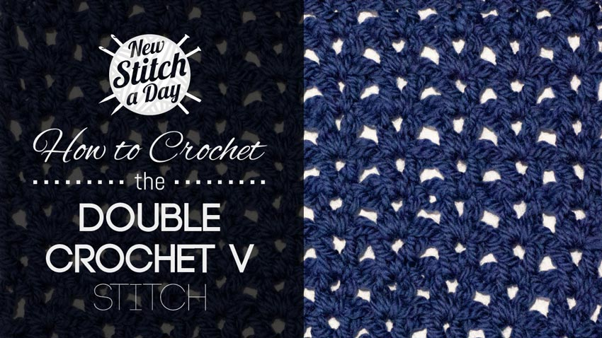 How to Crochet the Double Crochet V Stitch