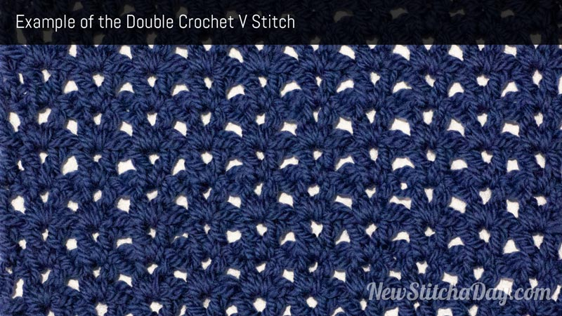 Example of the Double Crochet V Stitch