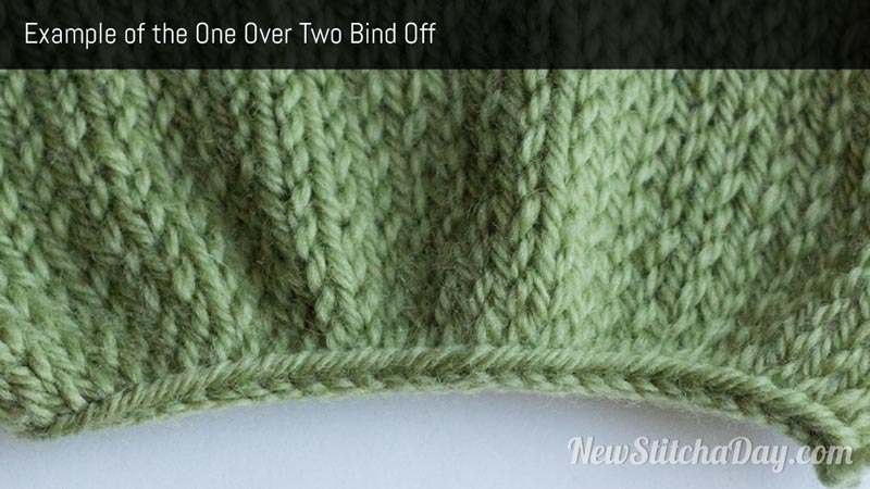 Example of the One Over Two Bind Off