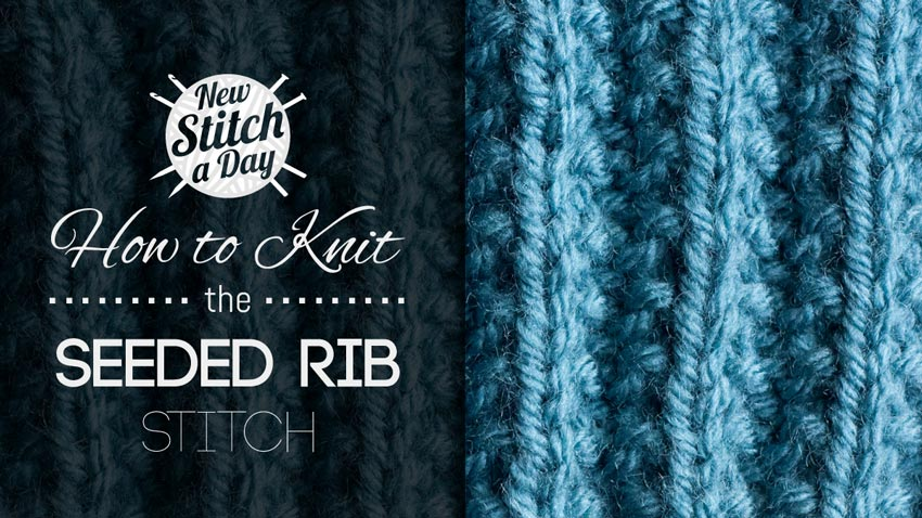 How to Knit the Seeded Rib Stitch