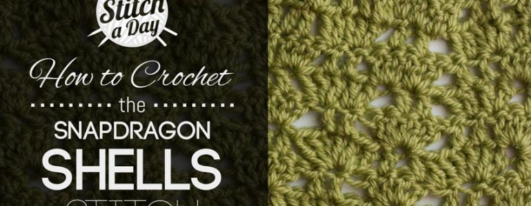How to Crochet the Snapdragon Shells Stitch