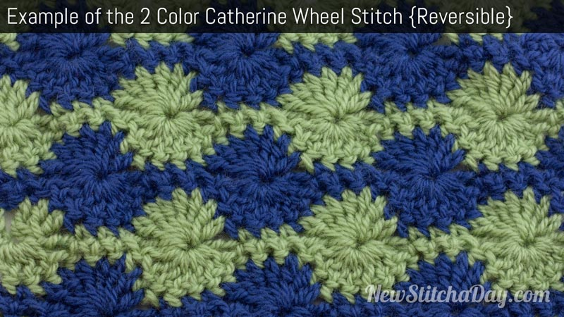 Example of the 2 Color Catherine Wheel Stitch