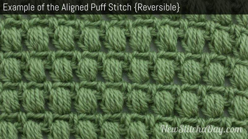Example of aligned puff stitch