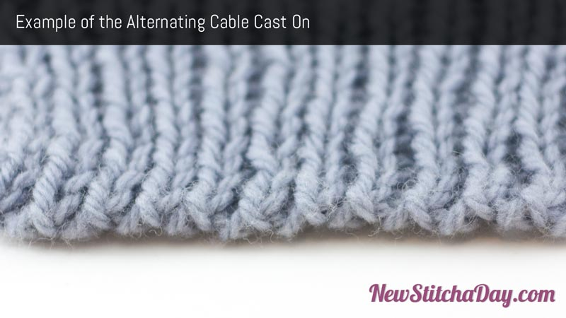 The Alternating Cable Cast On :: Knitting :: New Stitch a Day