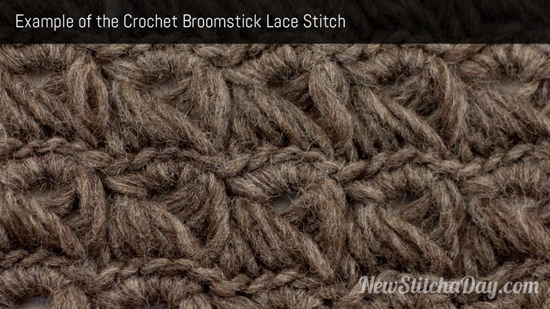 Example of crochet broomstick lace
