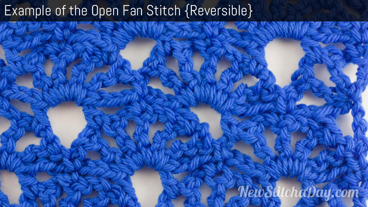 Crochet Stitch Open : The Open Fan Stitch :: Crochet Stitch #67