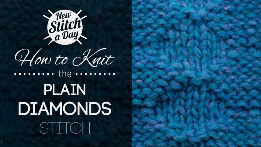 How to Knit the Plain Diamonds Stitch