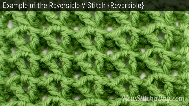 The Reversible V Stitch :: Crochet Stitch #84 NEW STITCH A DAY