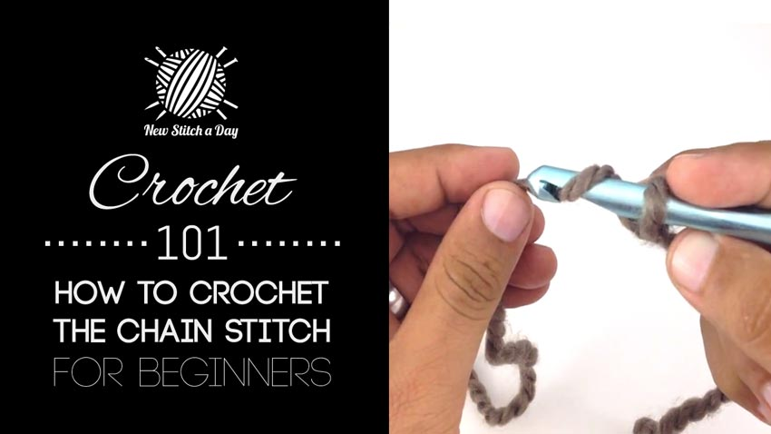 How To Crochet Basics : Crochet 101: How to Crochet the Chain Stitch for Beginners ...