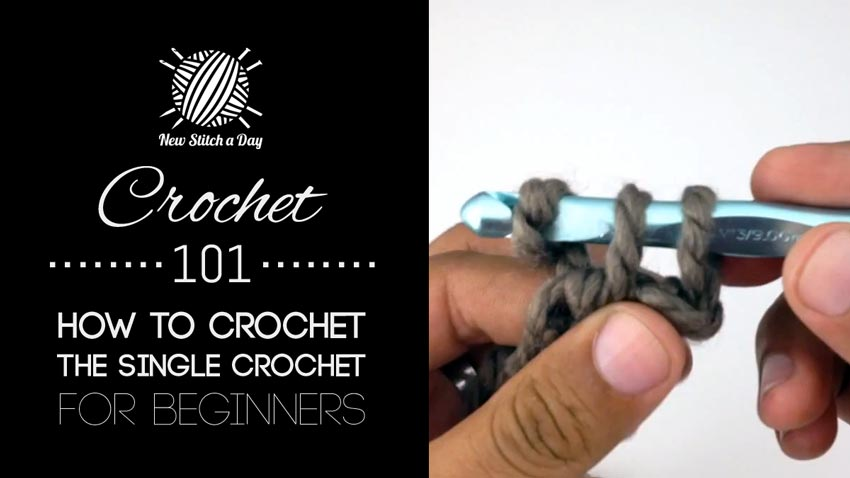 How To Crochet Basics : Crochet 101: How to Crochet the Single Crochet for Beginners ...