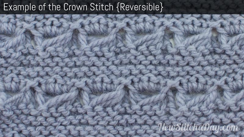 The Crown Stitch :: Knitting Stitch #185 :: New Stitch A Day