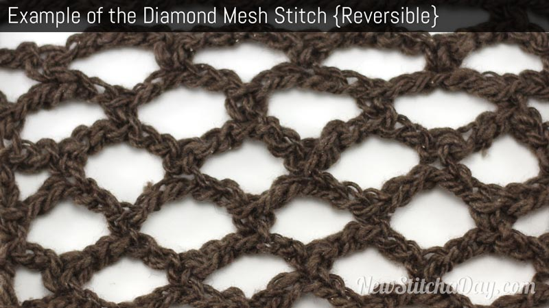 Crochet Stitches Loose : The Diamond Mesh Stitch :: Crochet Stitch #76