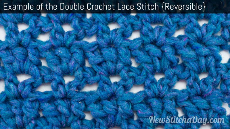 Example of the Double Crochet Lace Stitch